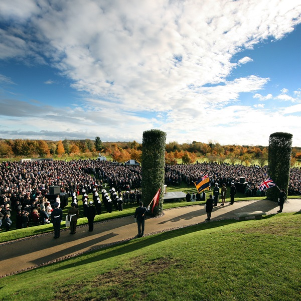 Military event at the National Memorial Arboretum