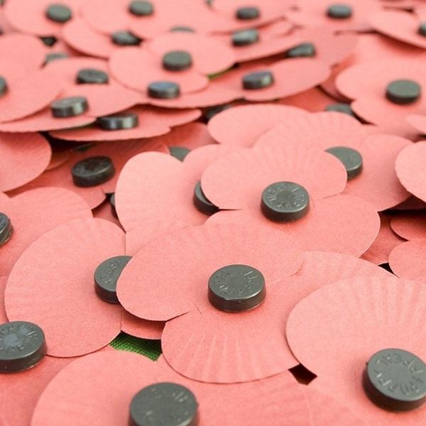 Royal British Legion paper poppies
