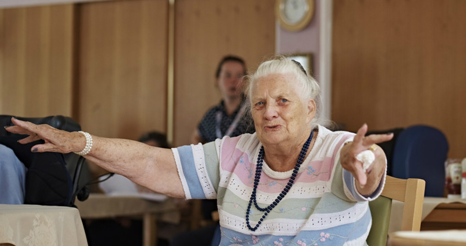 A resident at a Royal British Legion care home