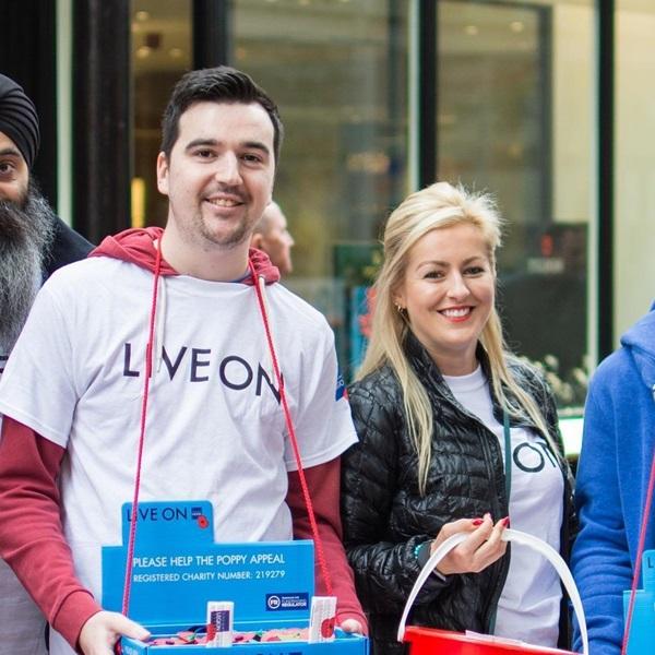 Poppy Day volunteers in Birmingham