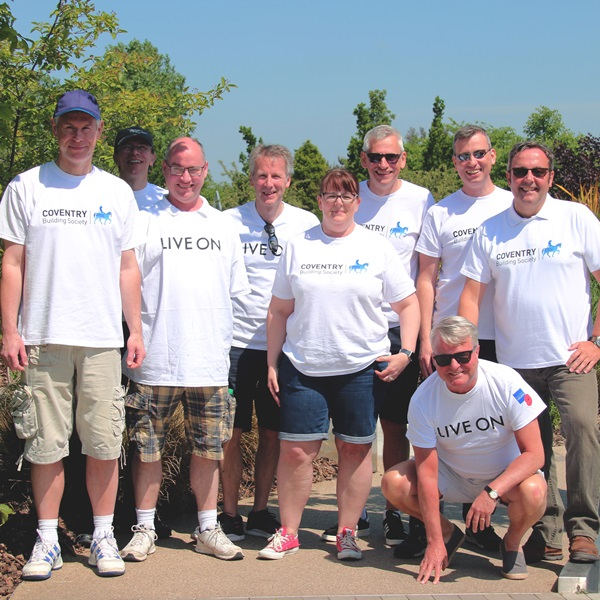 Our partners Coventry Building Society corporate volunteers