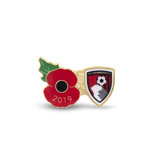 AFC Bournemouth Poppy  Football Pin 2019