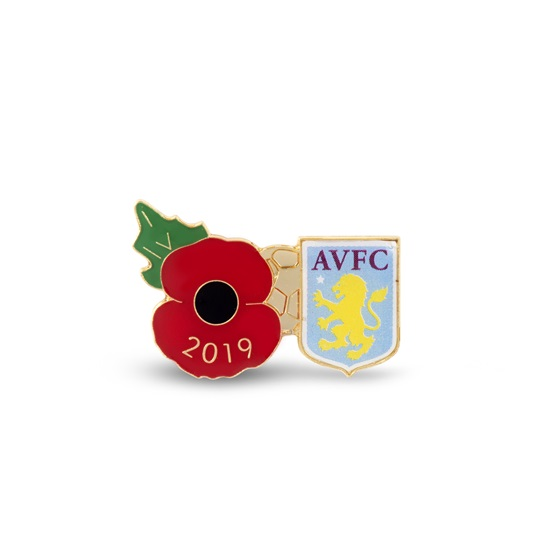 Aston Villa Poppy Football Pin