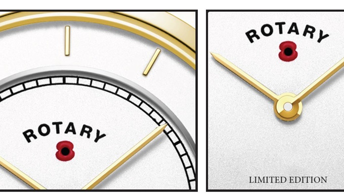 A close up of the limited edition rotary watch