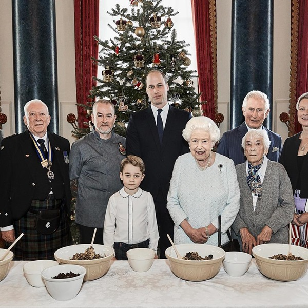 Legion launches new community initiative with Christmas puddings mixed by four generations of the Royal Family
