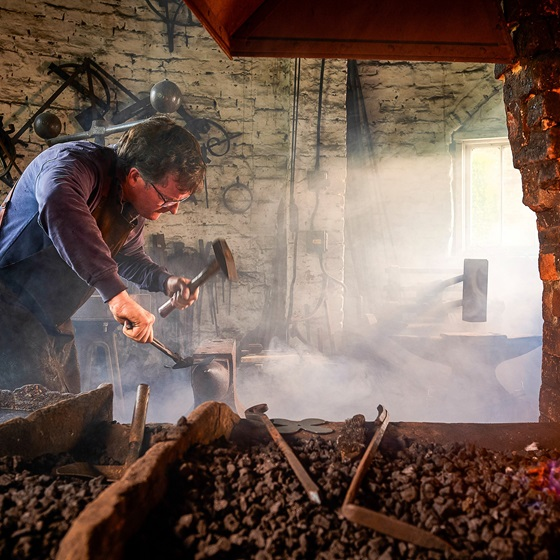 Veteran became a blacksmith