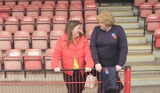 Annette, Royal British Legion advisor, working to help Chantelle