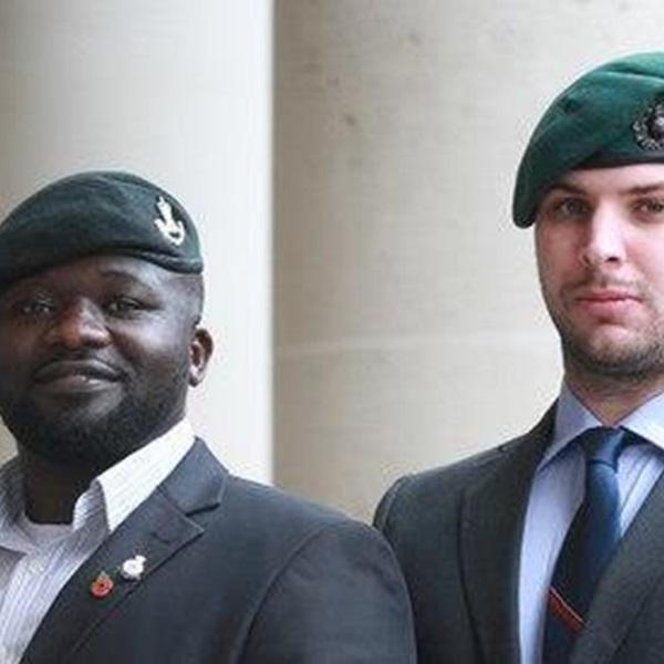 Three military veterans
