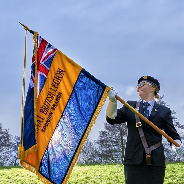 Army Cadet Maddie on marching to commemorate the last 100 days of WW1