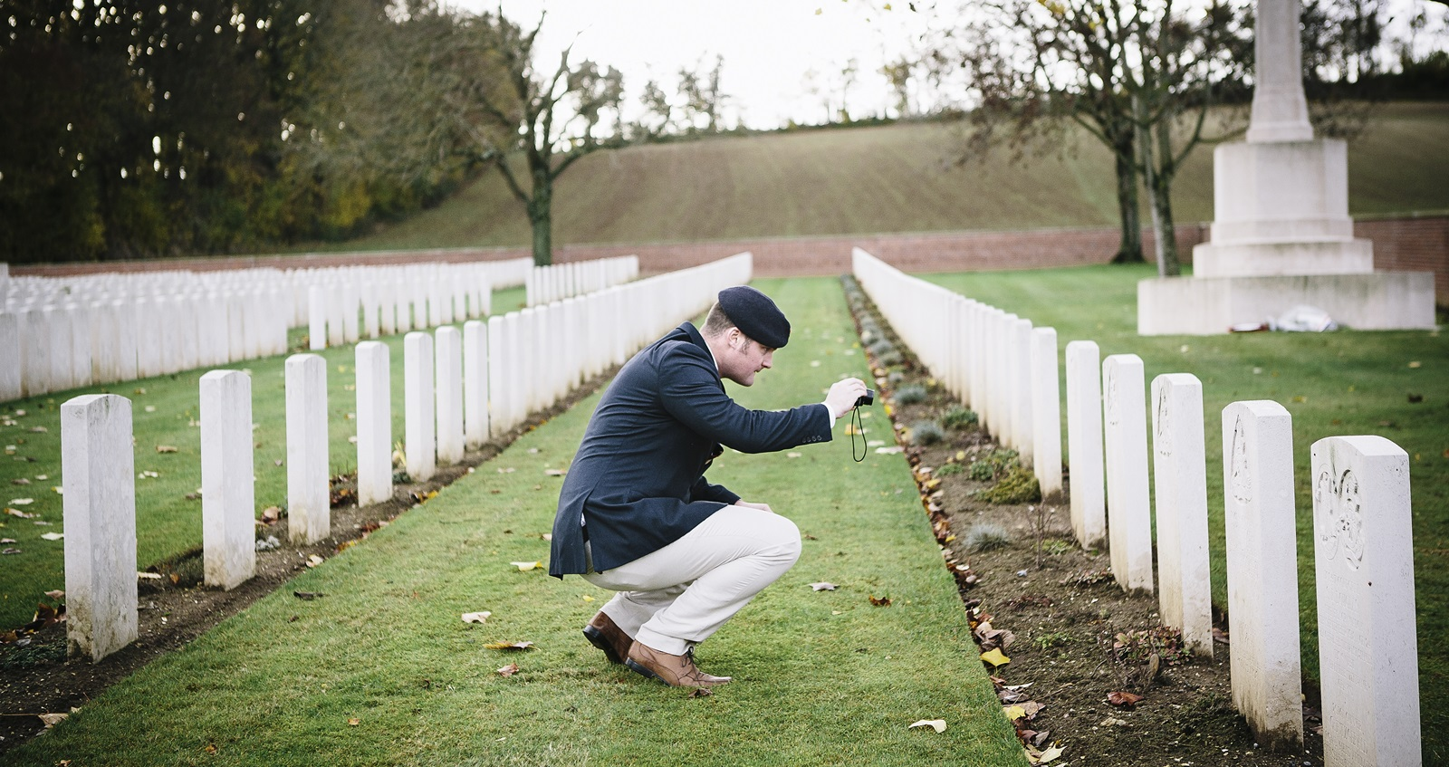 Veteran Liam Young visits graves on a trip to the battlefields of the First World War