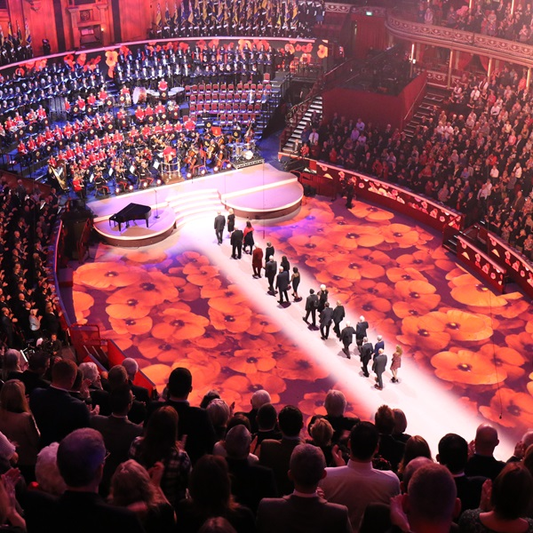 Arial view of the Festival of Remembrance where members get priority tickets and exclusive offers