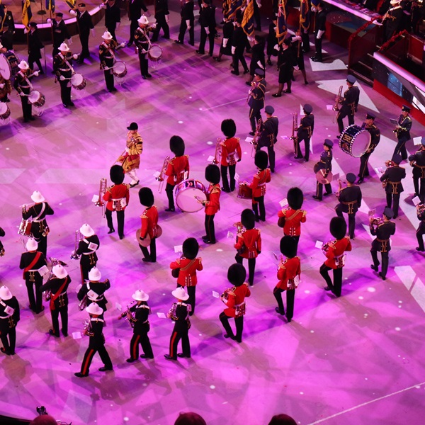 Festival of Remembrance bands performing