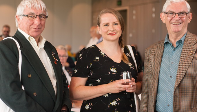 Legion members from left to right Simon Jary, Anne Bettison and Ken Mackay