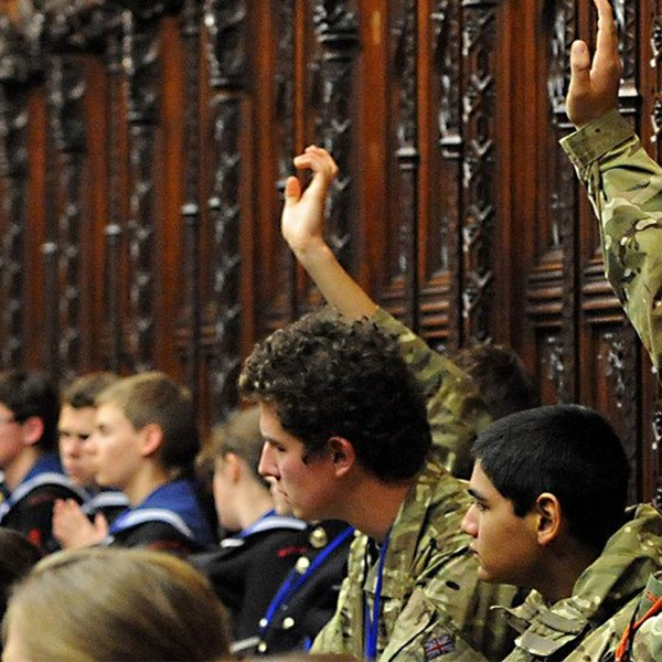 Armed Forces personnel taking part in a Veteran's strategy debate in parliament