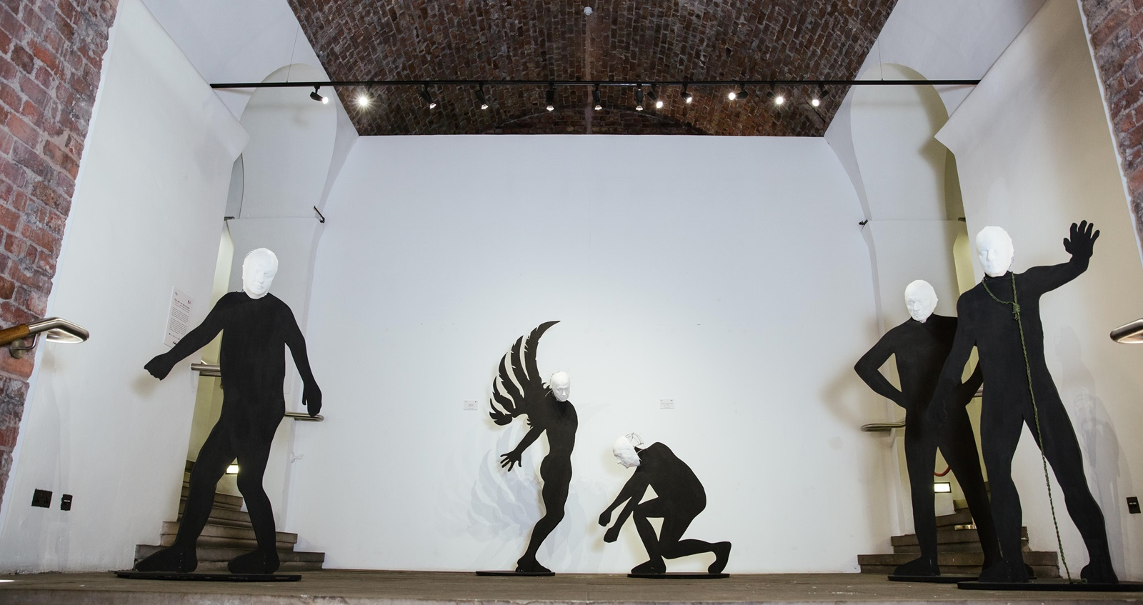 Exhibition of multiple sculptures