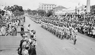 The African Pioneer Corps celebrating VE Day in Nairobi