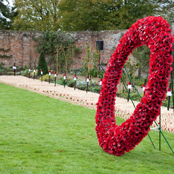 Poppy Wreath at Lydiard Park Fields of Remembrance
