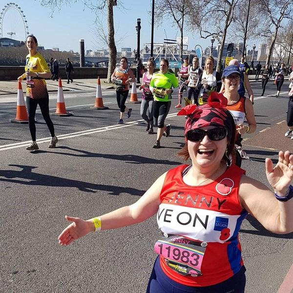 Runners at London Landmarks half marathon