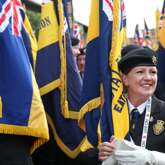 Overseas Legion branch members at Annual Conference