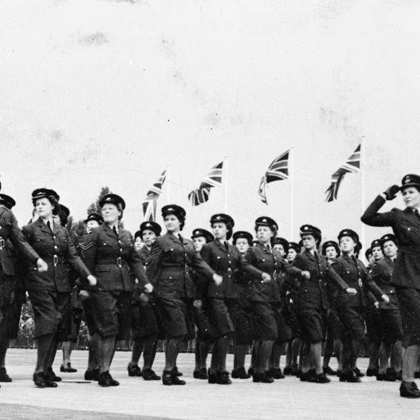 The WRAF contingent parade at Gatow.