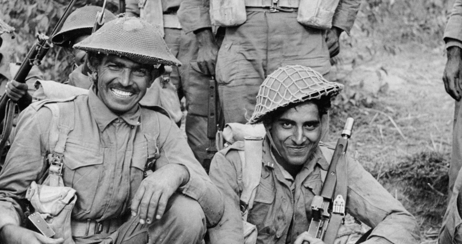 An Indian infantry section of the 2nd Battalion (Credit: @IWM IND 2917)