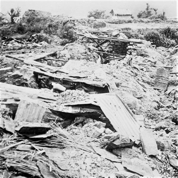 Kohima Naga Village ruins– IWM