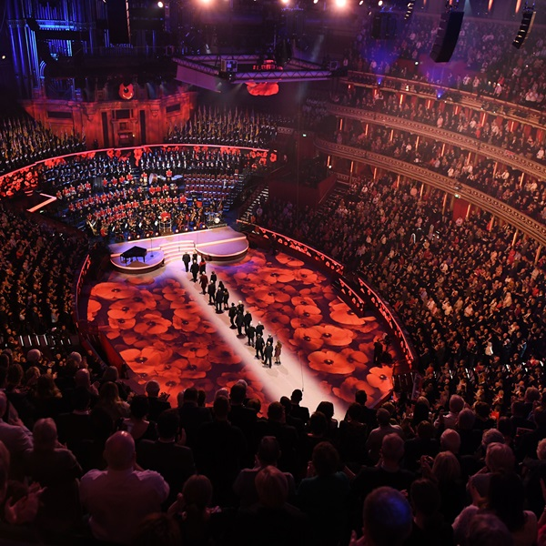 Festival of Remembrance poppies 2018