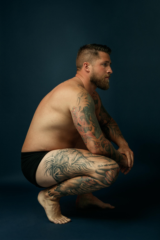 Craig Daniell crouched