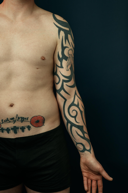 Dan Arnold arm tattoo