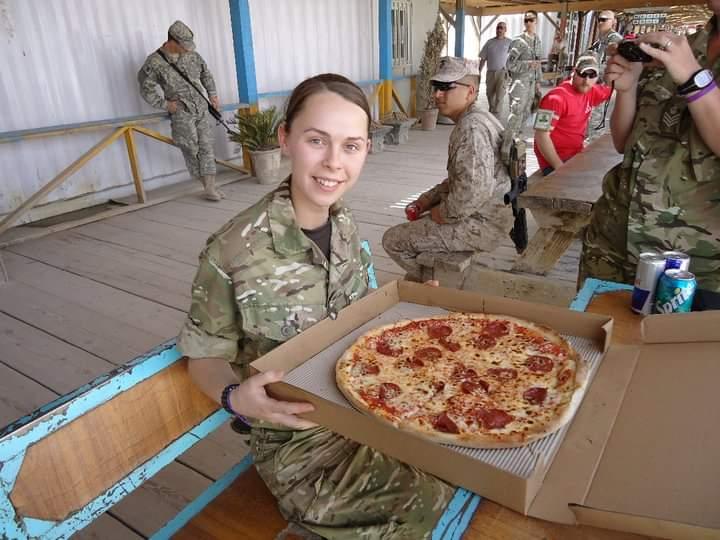 Dani Cummings in Afghanistan on her 21st birthday