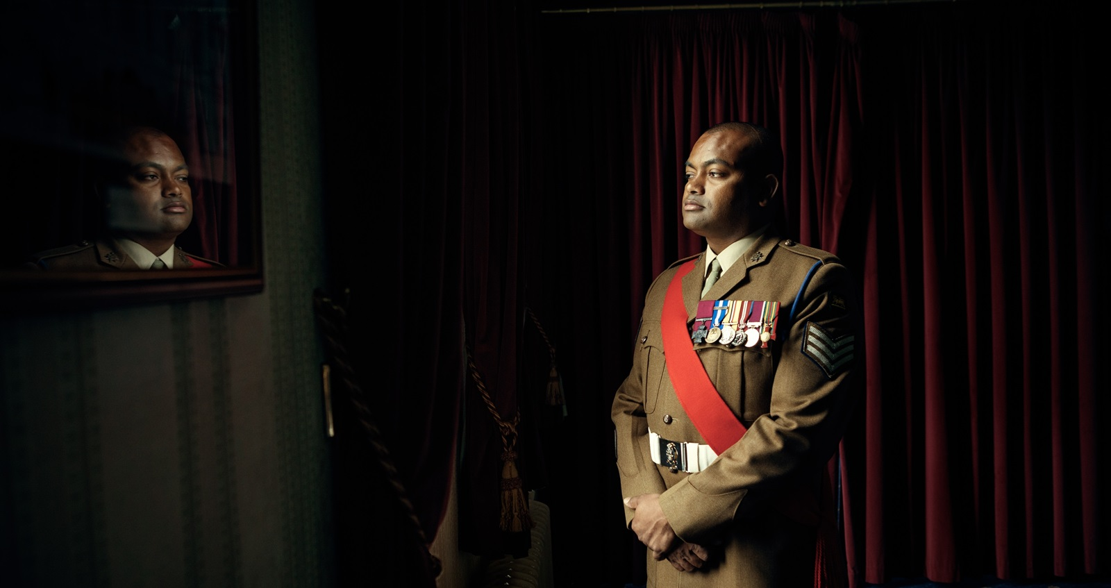 Sergeant  Johnson Beharry in uniform