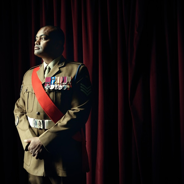 Johnson Beharry looking out of window