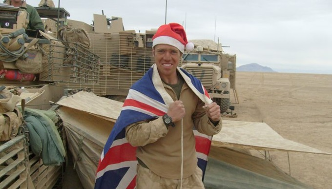 Lawrence Sabatini in Afghanistan at Christmas