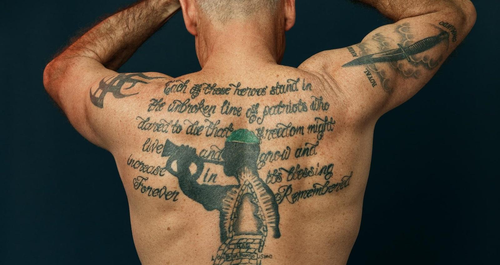 Matt Tomlinson back tattoo