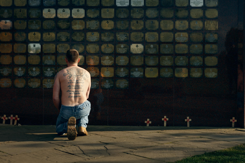 Paul Glazebrook at memorial