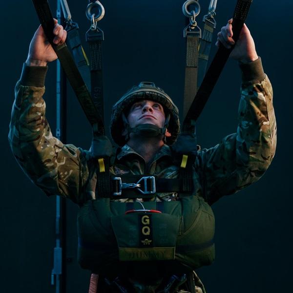 Sam Bailey testing parachute