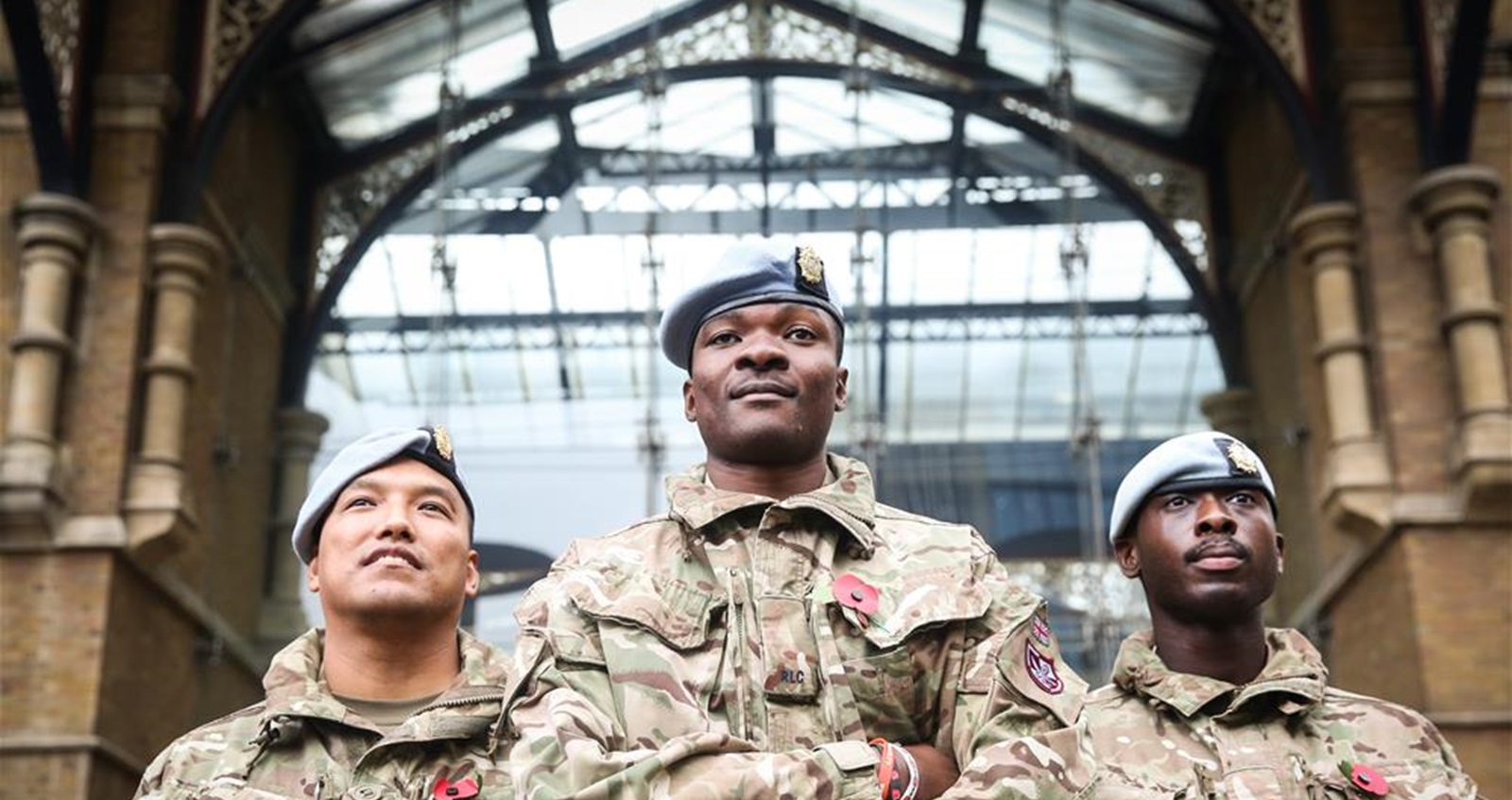 Soldiers at London Poppy Day