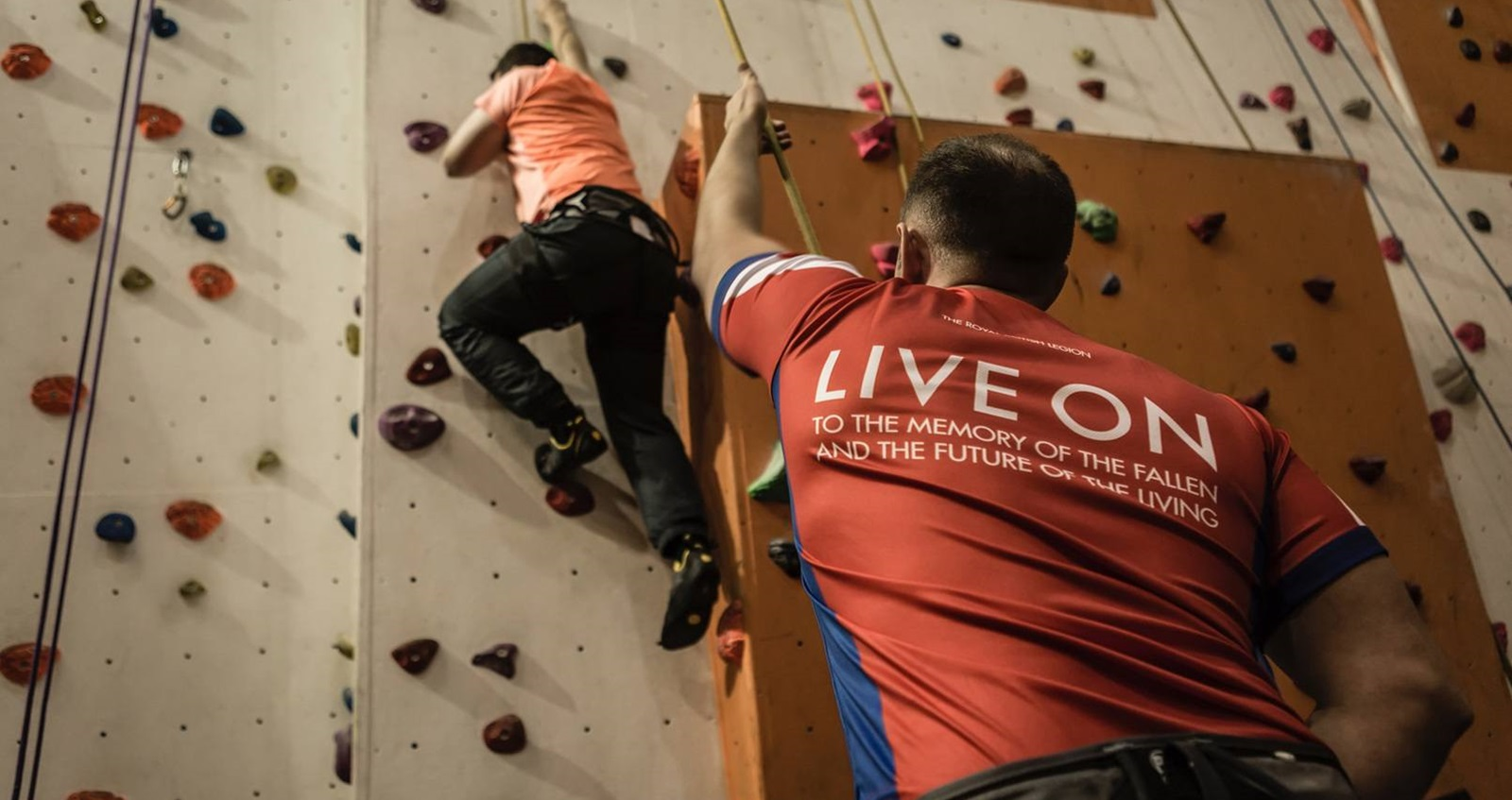 Indoor climbing at Battle Back Centre