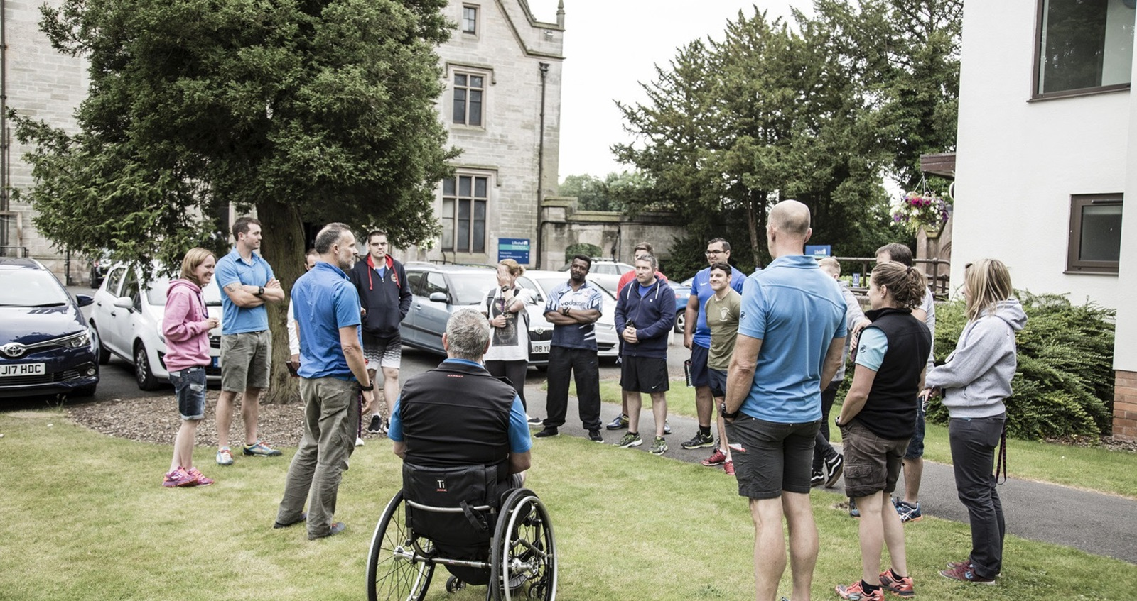 Participants at Battle Back Centre meet the team of coaches