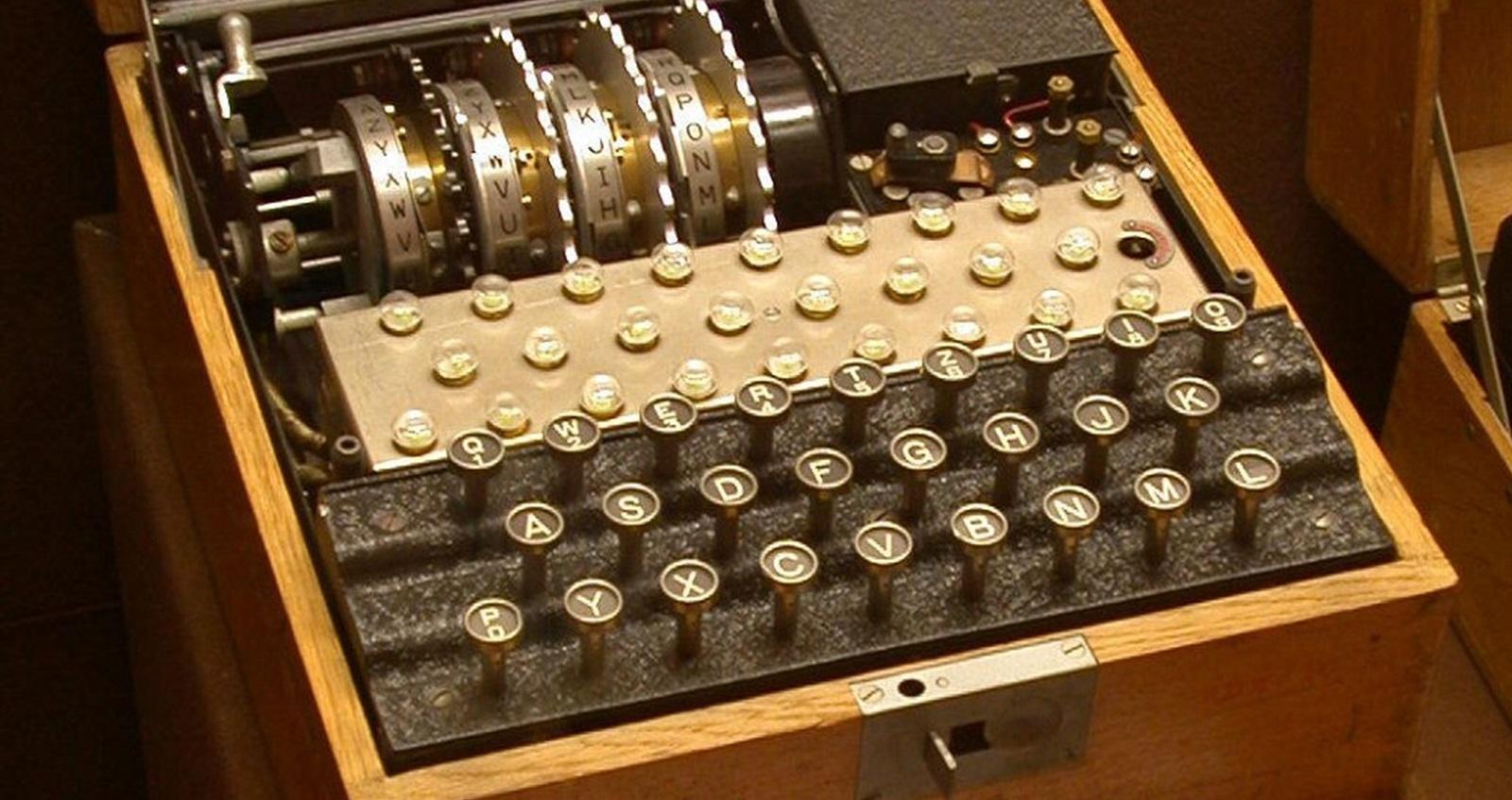 Enigma enciphering machine