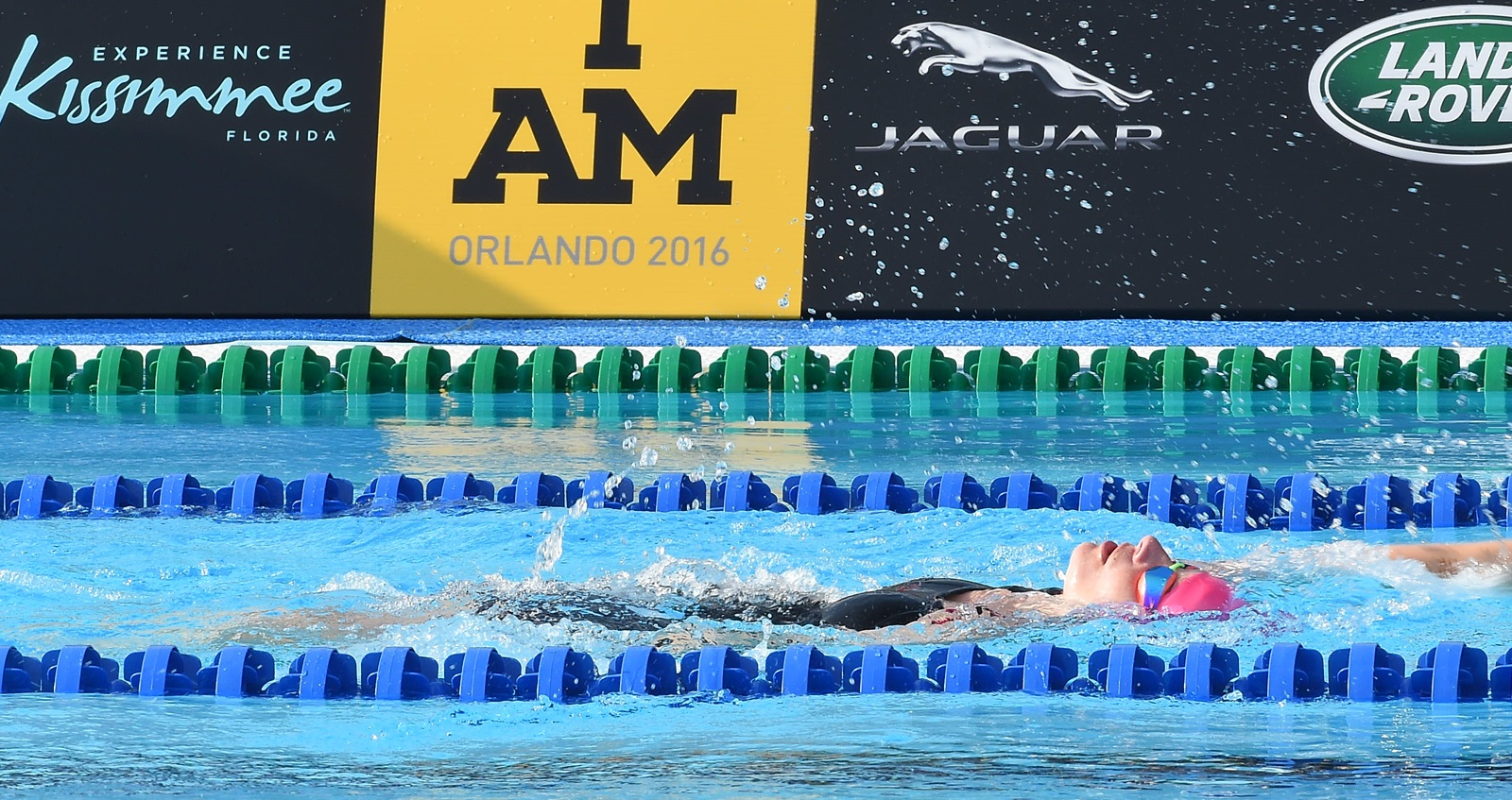 Anna competing in the pool at the Invictus Games 2016
