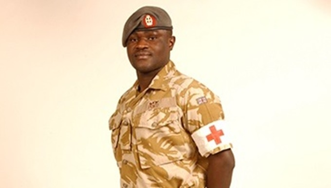 Army nurse volunteer Ben Poku