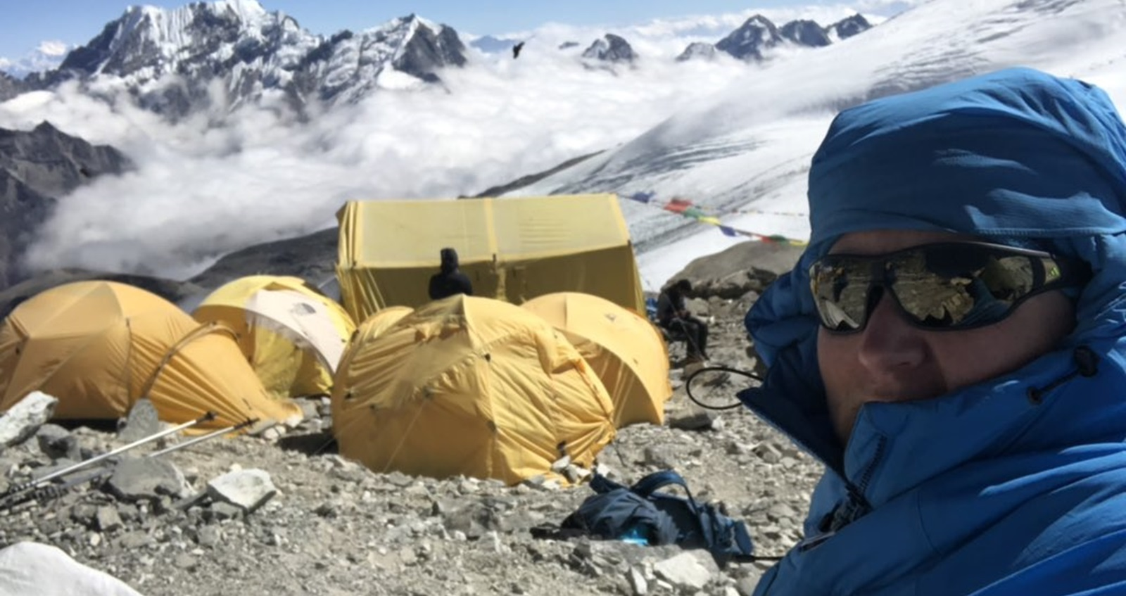 Becky Eckersley at high camp