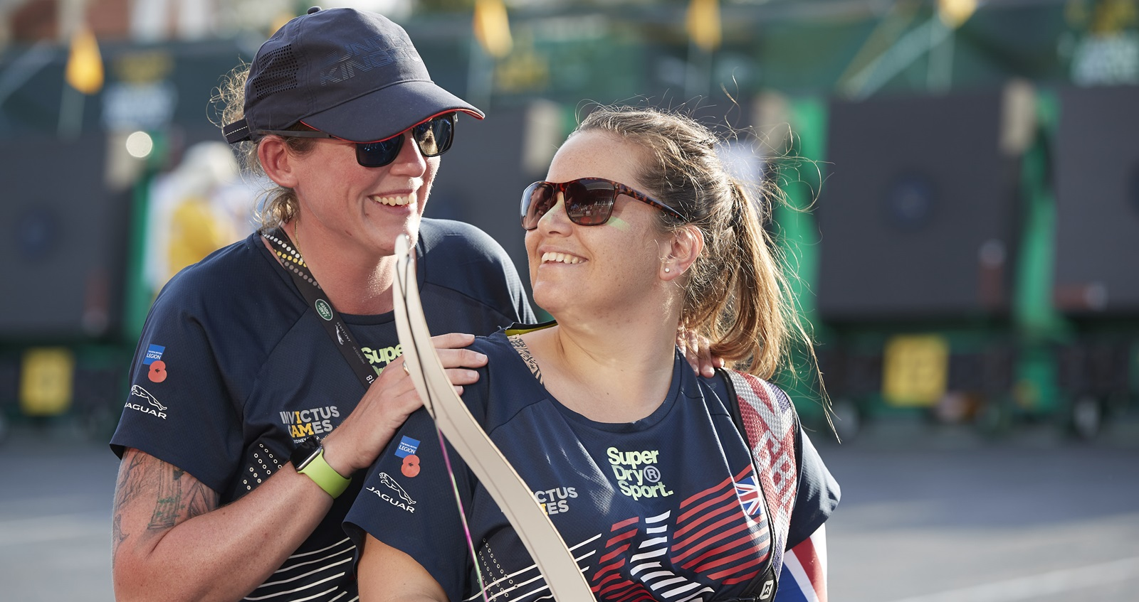 Poppy at an archery event at the Invictus Games 2018