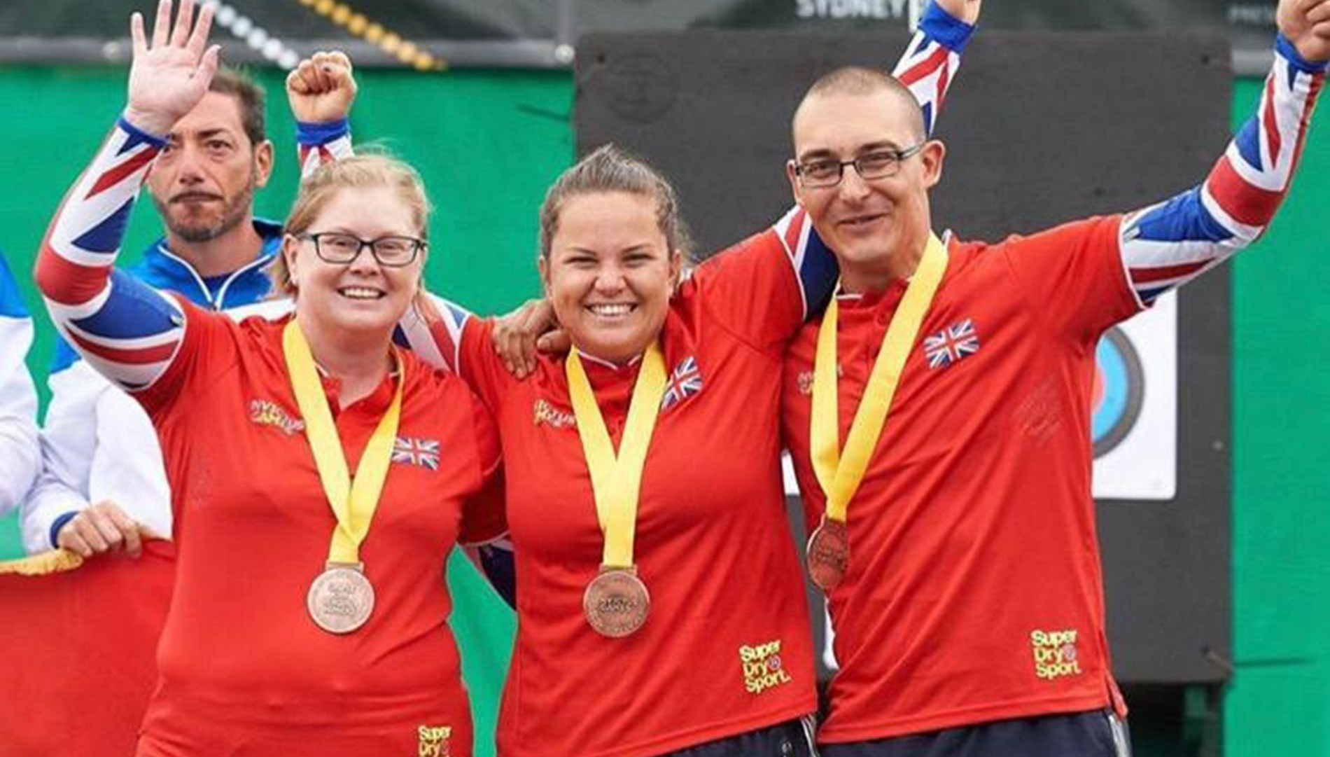Poppy at a medal ceremony during the Invictus Games