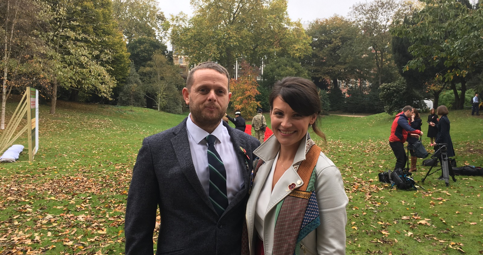Mike and Linda Kiff at Poppy Appeal launch in 2017