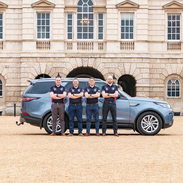 The Castle Trek team on Horse Guards Parade