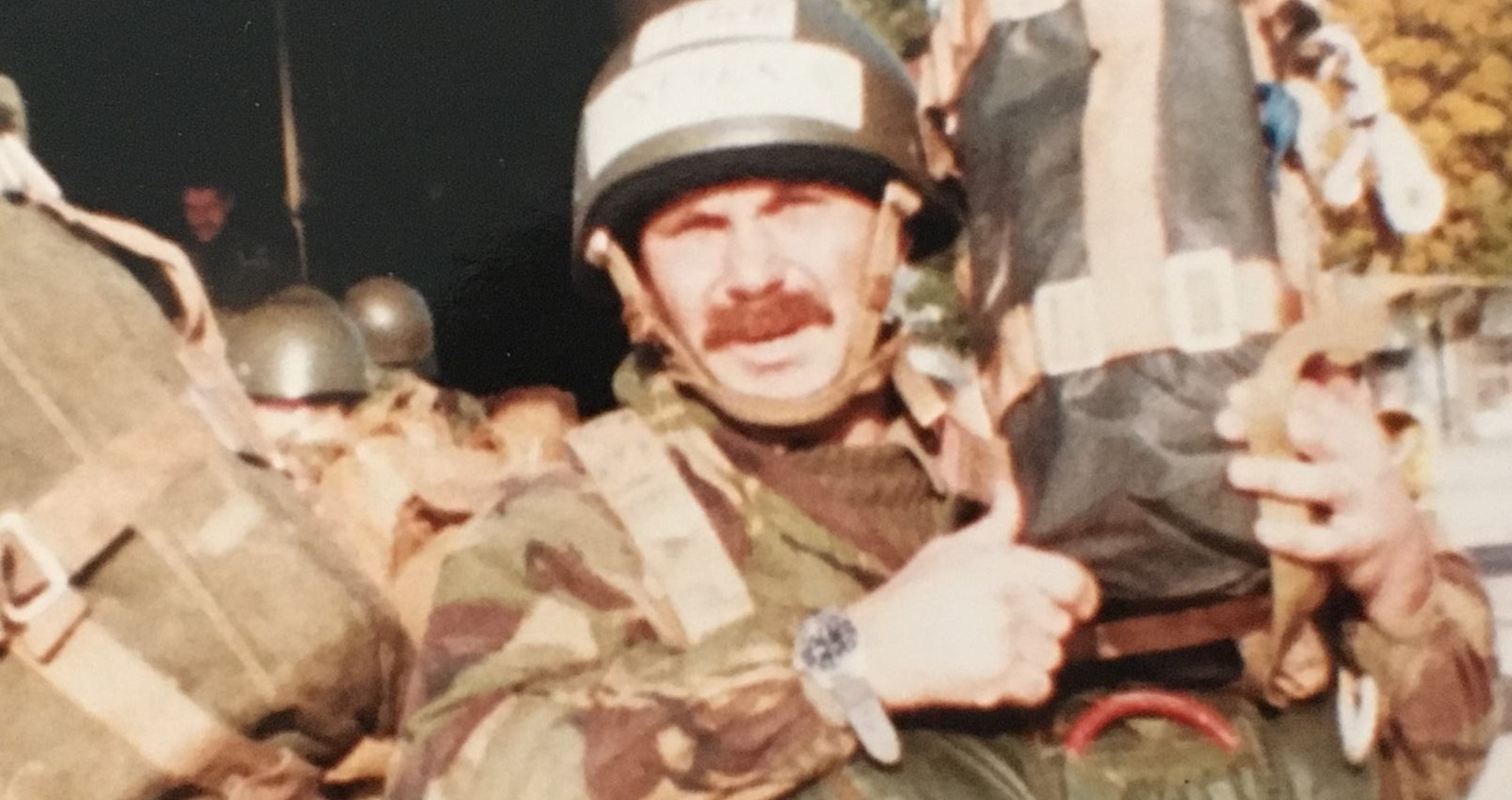 Ron during his time in the Territorial Army