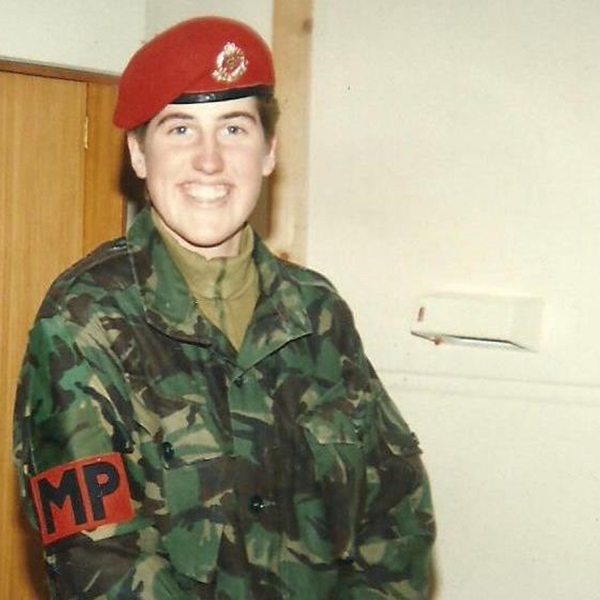 Kate Green during her time serving with the Royal Military Police