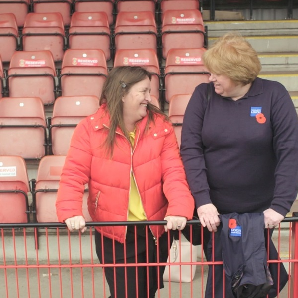 Chantelle with Royal British Legion staff member Annette